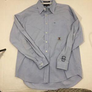 Men's Tommy Hilfiger Golf Blue Button Shirt L